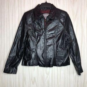 Wilson Leather Jacket with Zip-in Quilt Vest